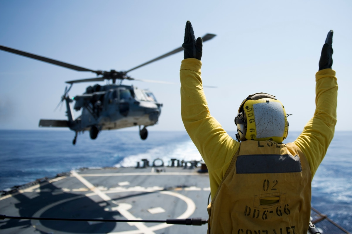 US Military News • US Navy Helicopter Sea Combat Squadron • Live-Fire Exercise Arabian Gulf