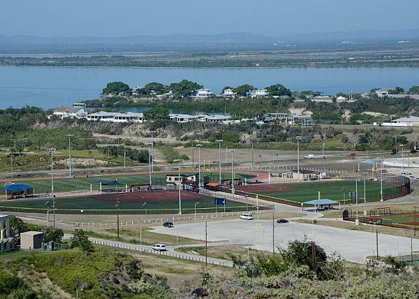 View of Cooper Field at Naval Station Guantanamo Bay, Cuba as seen from John Paul Jones Hill. (Mass Communication Specialist 2nd Class Kegan E. Kay/Navy)