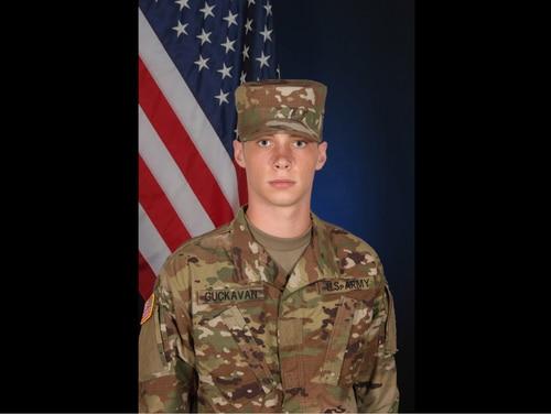 Spc. Mason James Guckavan died Oct. 26 from a gunshot wound in his barracks. (Army)