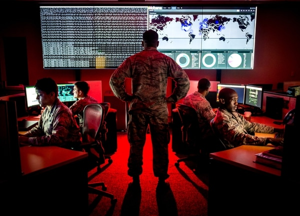 Cyber warfare, both offensive and defensive, has become critical to the nation's security. (J.M. Eddins Jr./Air Force)