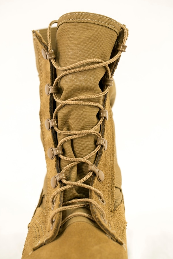 The new Army Jungle Combat Boot shown during media round-table at Fort Belvoir in Springfield, Va., on Tuesday, February 28, 2017.Fast lacing system on the boot. (Alan Lessig/Staff)