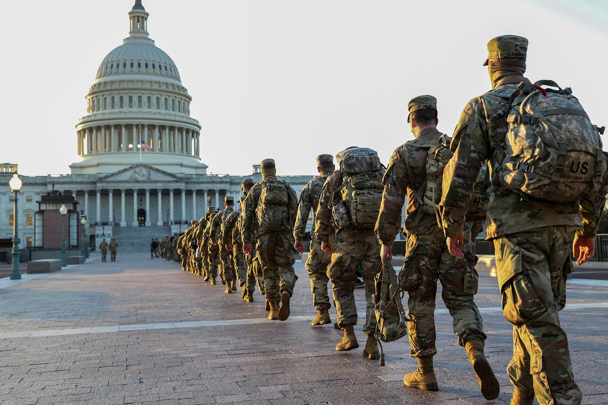National Guard troops from around US continue to pour into DC for inauguration security