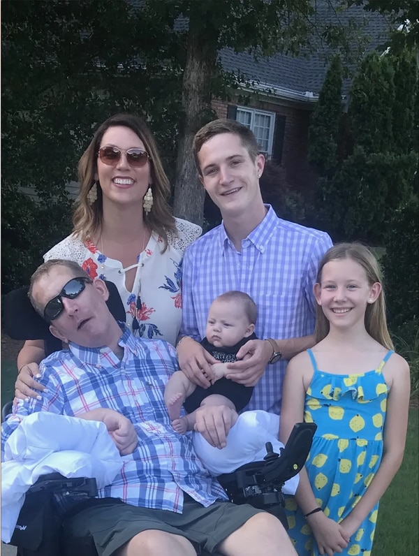 Mark Allen with wife, Shannon Allen of Loganville; son: Cody Allen of Tuscola, IL; daughter: Journey Allen of Loganville; grandson: Kruze Allen of Tuscola, IL. (Shannon Allen)