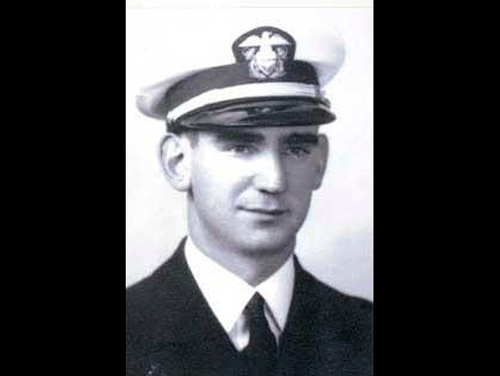 Charles M. Stern Jr., a 26-year-old ensign who was assigned to the battleship Oklahoma when the Japanese attacked Hawaii on Dec. 7, 1941. (Pentagon via AP)