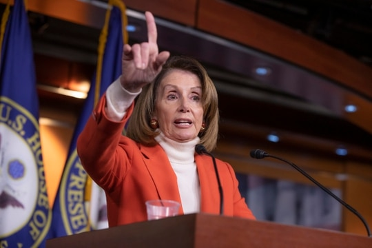 House Minority Leader Nancy Pelosi, D-Calif., talks to reporters during a news conference at the Capitol on Nov. 15, 2018. Veterans in the Democratic Party could play a key role in upcoming leadership elections for the House. (J. Scott Applewhite/AP)