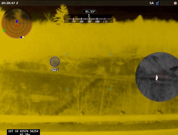 The Army's new Enhanced Night Vision Goggle-Binocular has rapid target acquisition software that helps shooters find and destroy a target faster and shoot from the hip or around corners. (Army)