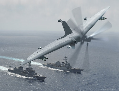Did the Marine Corps cut bait too soon on a ship-launched, long-range ISR drone? The Defense Advanced Research Projects Agency has been pursuing such a capability in its Tactically Exploited Reconnaissance Node, or TERN surveillance drone. (DARPA)