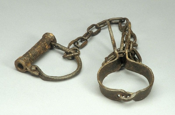 Slave Shackles, 19th century (Division of Home and Community Life, National Museum of American History)