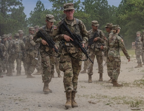 Battle assemblies like this one are suspended over coronavirus concerns. Army Reserve photo by Spc. Jeremiah Woods)