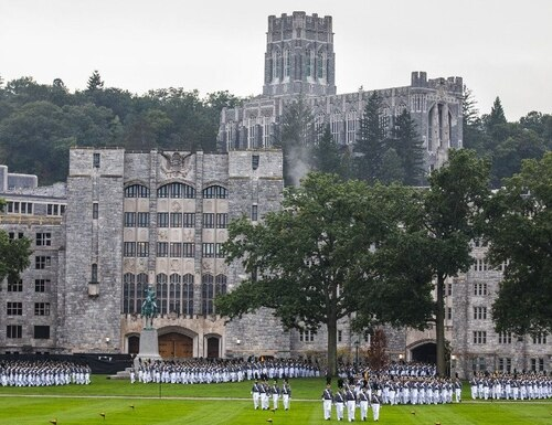 Cadets form up on the campus at West Point. A new book is shedding light on a cheating scandal at the institution 45 years ago. (Army)