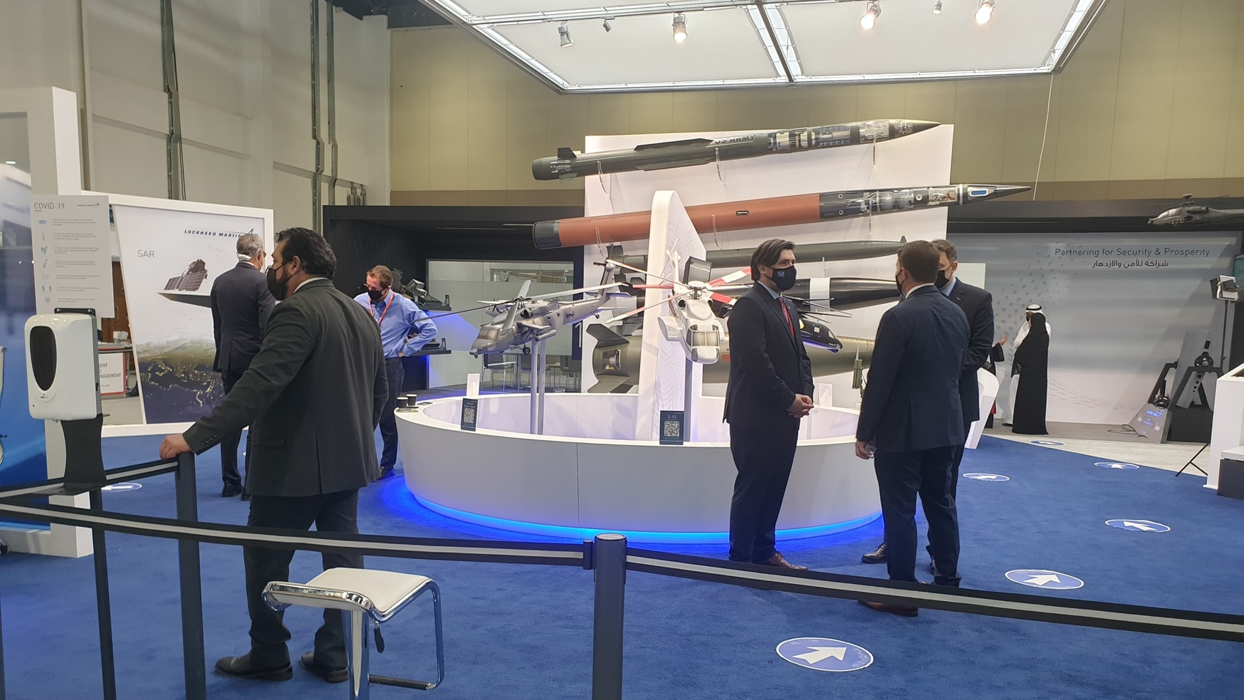 In February, the United Arab Emirates hosted the arms trade show IDEX. Some American firms showed up for the rare in-person event amid the pandemic. (Agnes Helou/Staff)