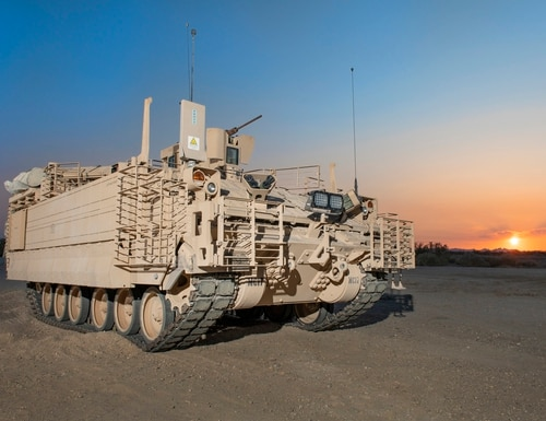 This is a version of the Army's latest ground vehicle. The Armored Multi-Purpose Vehicle is set to replace the Vietnam-era M113 Armored Personnel Carrier beginning in 2020. (BAE Systems)