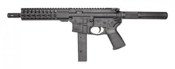 The CMMG, Inc.-made CMMG Ultra PDW is one of the submissions. This image shows a CMMG AR-9 style pistol. The Army has received 10 submissions for its request for information on a submachine gun that fires 9 mm ammunition. (CMMG, Inc.)