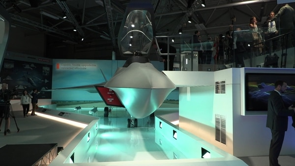 The British government unveiled a full-scale concept demonstrator model of Tempest, its future fighter, at Farnborough.