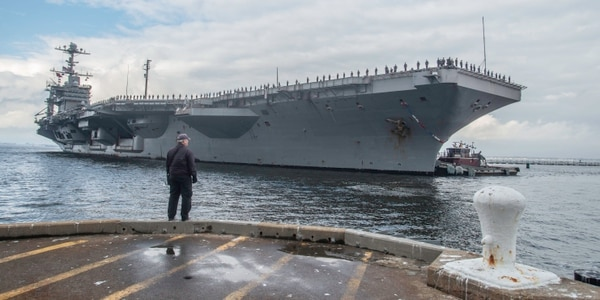 The Navy confirmed that the aircraft carrier Harry S. Truman and its battlegroup will soon deploy for the third time in four years. (Mark D. Faram/Staff)