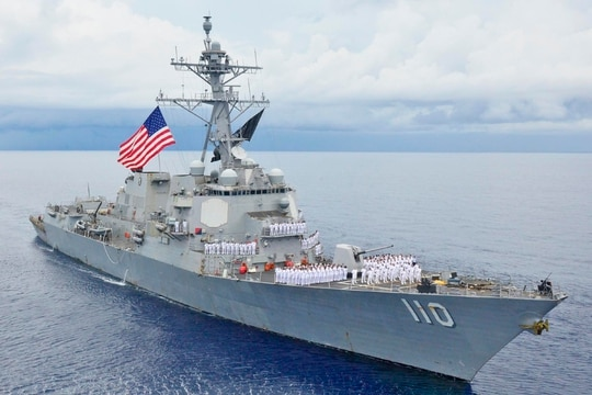 The guided-missile destroyer William P. Lawrence, shown here in an undated photo, conducted a freedom of navigation operation off of the Venezuelan coast Wednesday. (Navy)