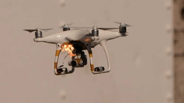 Raytheon targeted and disabled a small Unmanned Aerial Vehicle using its High Energy Laser Weapon System onboard a Polaris MRZR in New Mexico.