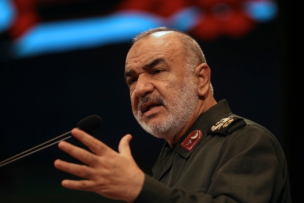 In this Nov. 22, 2018, the then deputy commander of Iran's Revolutionary Guard Gen. Hossein Salami speaks in a conference in Tehran, Iran. (Vahid Salemi/AP)