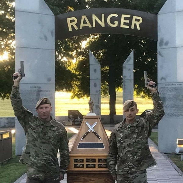 Sgts. 1st Class Joshua Rolfes and Anthony Allen came out on top April 15, 2018, in the Best Ranger competition at Fort Benning, Georgia. (Army)