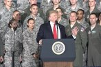 Trump lauds F-35, promises sweet new tech in speech to airmen