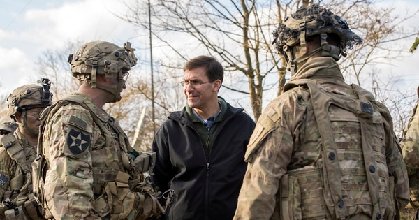 Army Secretary Mark Esper discussed possible changes to the service's permanent change-of-station policies during a roundtable discussion Feb. 6 with service organizations at the Pentagon. (Army)