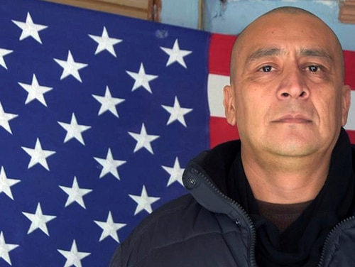 U.S. Marine veteran Marco Chavez, who was deported to Mexico in 2002 after he was convicted of a minor offense. In 2017 he won his fight to return to the U.S. (Hector Barajas-Varela via AP)