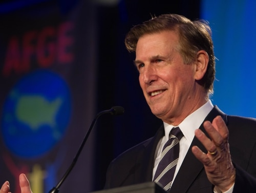 US Rep. Don Beyer appears at the American Federation of Government Employees's legislative conference in 2015.