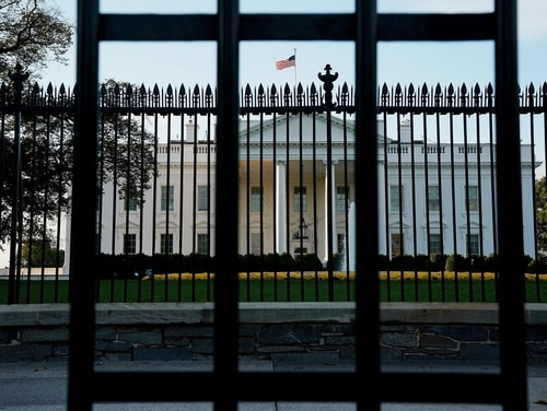 Early morning light lands on the North Portico of the White House Oct. 30, 2017, in Washington. (Chip Somodevilla/Getty Images)
