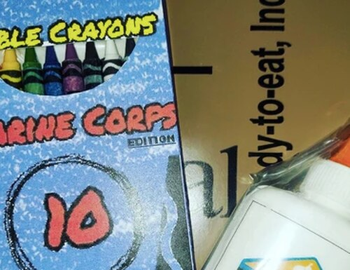 Marines can now enjoy edible crayons. (Courtesy photo, Okashi Sweets)