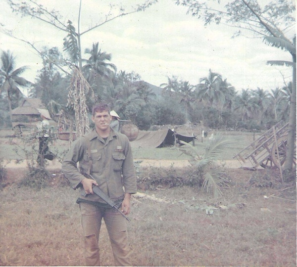 Frank Crary, a recipient of the Distinguished Service Cross for actions that saved his platoon during an ambush, is pictured here in Vietnam sometime during his 1966 deployment. (Frank Crary)