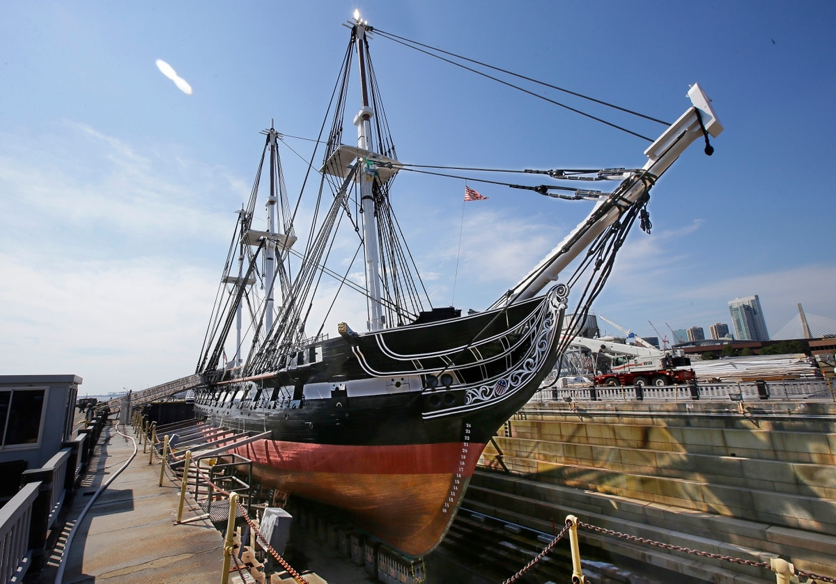 USS Constitution returns to Boston's waters after repairsUss Constitution Pictures