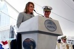 Navy ship christened for Gabrielle Giffords