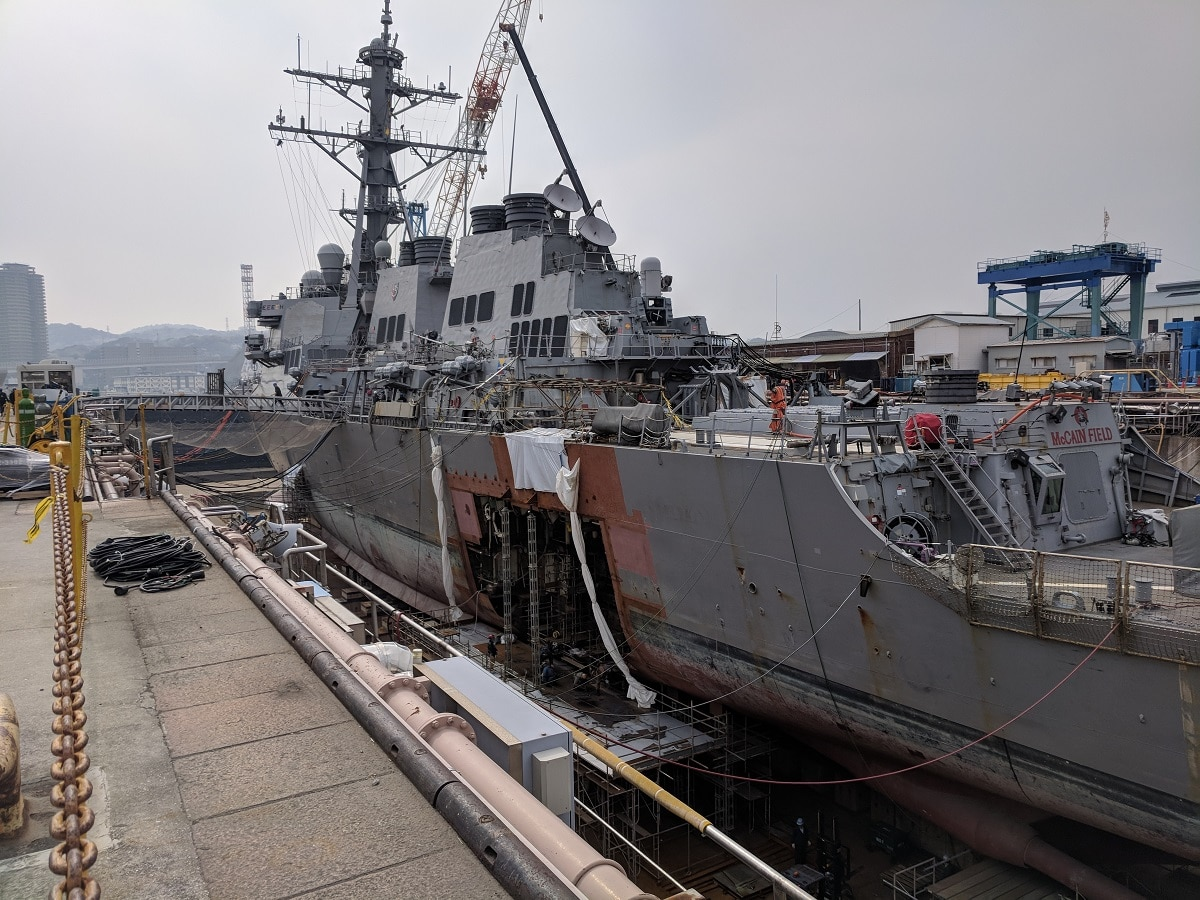 In Japan, a hard-hit US Navy fleet is steadying on a new course