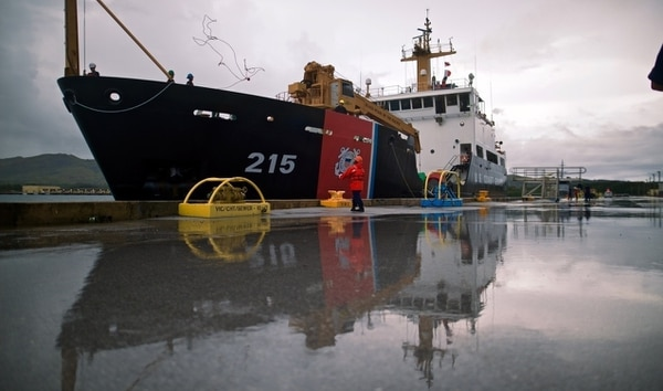 Coast Guard cutter Sequoia returned to Guam Thursday after surveying ports and navigation conditions on storm-ravaged Tinian and Rota. Ports are now open to handle the flow of relief supplies. (Petty Officer 1st Class Makenzi Austin /Coast Guard)