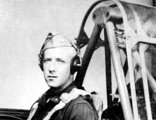 This 1943 photograph released by the U.S. Army Air Forces, the predecessor to today's Air Force, shows 2nd Lt. Robert Keown in the cockpit of a training aircraft in California. Keown, a Georgia native and Alabama resident who was killed in a crash in Papua New Guinea in 1944 during World War II, was buried June 15, 2018, in Arlington National Cemetery in Washington. (U. S. Army Air Forces via PacificWrecks.com via AP)