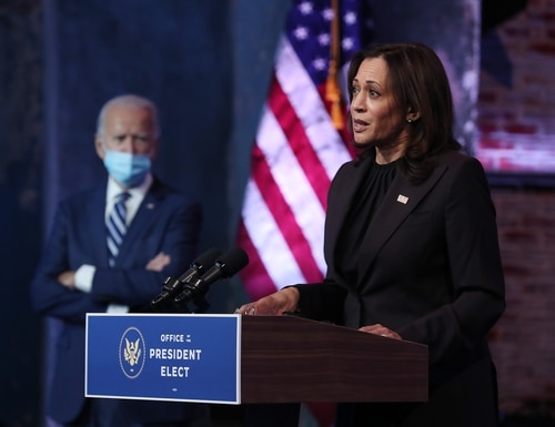 Vice President-elect Kamala Harris will become the highest-ranking woman to serve in the executive branch. (Joe Raedle/Getty Images)