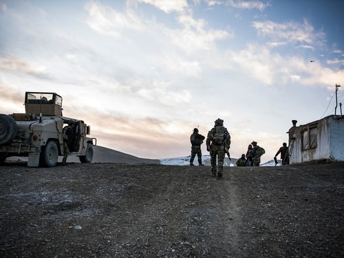 U.S. Special Forces and Afghan Special security forces work and train together in eastern Afghanistan, winter 2019- 2020. (Tech. Sgt. Gregory Brook/ Air Force)