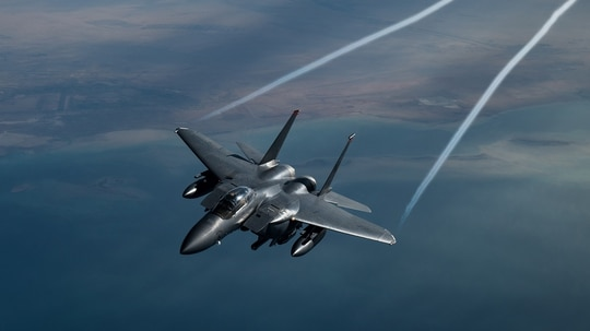 BAE Systems will begin initial production of the F-15 Eagle Passive Active Warning and Survivability System. (Staff Sgt. Sean Carnes/Air Force)