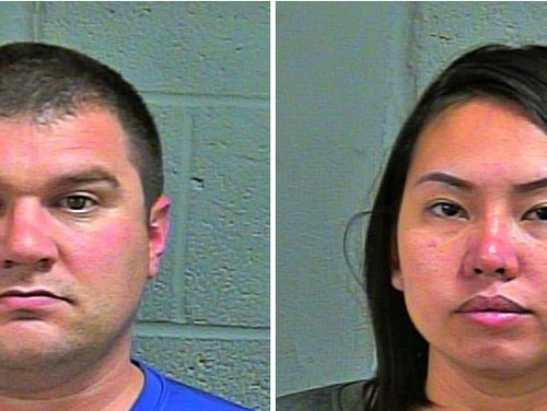 Joseph Fetterman, left, and his wife were arrested and are accused of running a prostitution ring out of an Oklahoma massage parlor they own. (Oklahoma County Jail)