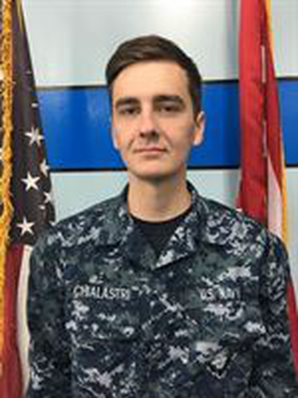 Aviation Boatswain's Mate (Equpiment) Airman Matthew Chialastri, a native of Louisiana, was assigned to USS Ronald Reagan (CVN 76). (Photo by courtesy photo)