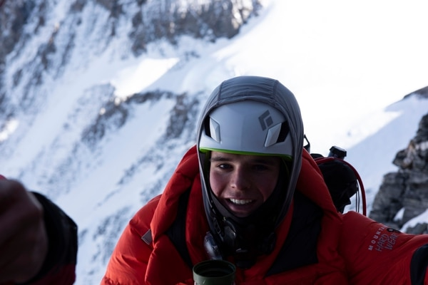 Matt Moniz nearing the summit of Everest (Matt Moniz).