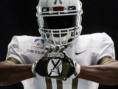 Army West Point's uniforms will honor the 10th Mountain Division at this year's Army-Navy game. (Army West Point Athletics)