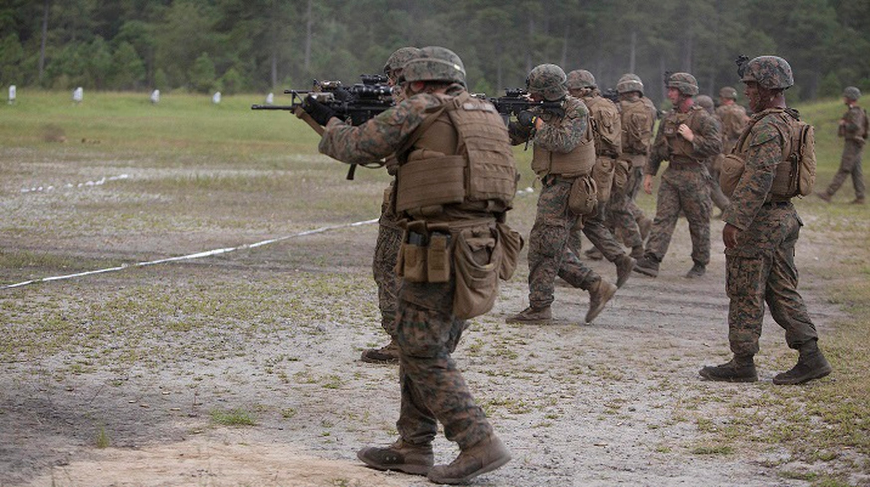 The Marine Corps is looking for lighter protective plates for Marines' body armor. (Pfc. Nicholas Guevara)