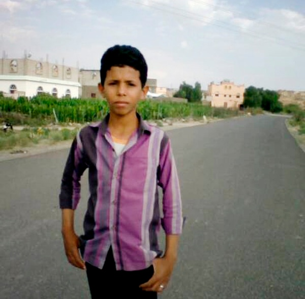 This 2018 handout image provided by the al-Hassbi family shows a photo of Yahia al-Hassbi, who was killed in a drone strike in Yemen. Al-Hassbi was tending to his goats about 4 miles from a checkpoint when a drone struck. He was killed immediately. (al-Hassbi family via AP)