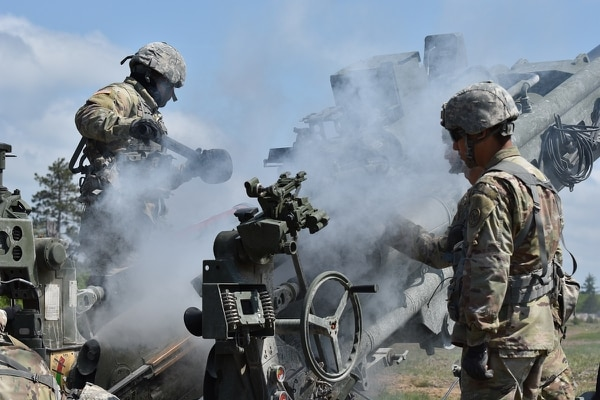 A new technology unveiled recently could extend artillery such as this 155 mm Howitzer to as far as 60 miles or more. (Spc. Andrew Valenza/Army)