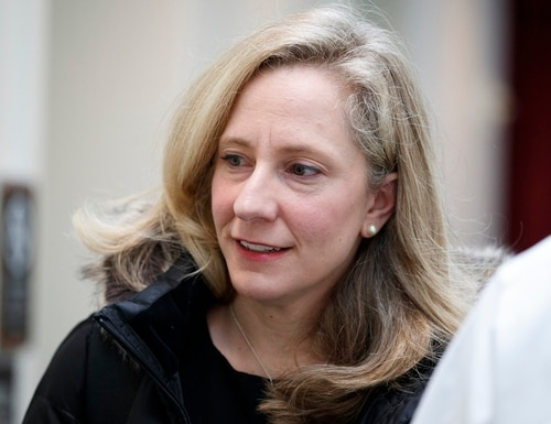 Rep. Abigail Spanberger, D-Va. walks to a closed Jan. 4 Democratic Caucus meeting on Capitol Hill. (Carolyn Kaster/AP)