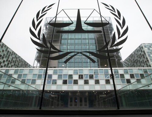 In this Nov. 7, 2019, file image, the International Criminal Court, or ICC, is seen in The Hague, Netherlands. (Peter Dejong/AP)