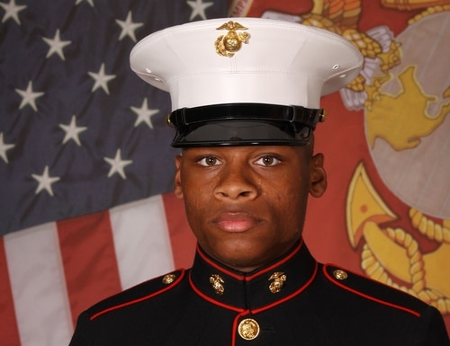 Lance Cpl David W. Hollinger III was found unresponsive in the water near the French Creek boat dock aboard Camp Lejeune, North Carolina, on Wednesday. (Marine Corps)