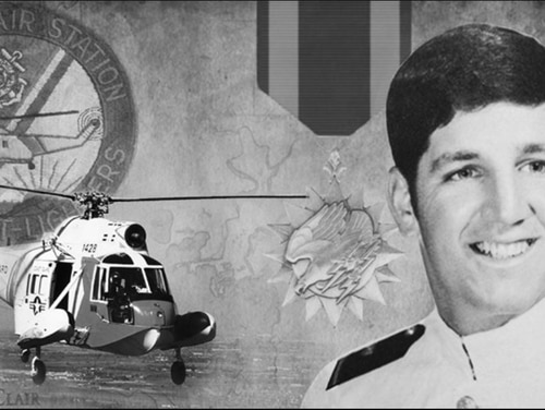 Then-Lt. Mark Feldman piloted a helicopter that pulled the two victims from Lake St. Clair in Ontario, Canada, after their plane crashed in a 1986 snow storm. He then performed CPR on one of the victims as his co-pilot flew to a hospital. (Coast Guard)