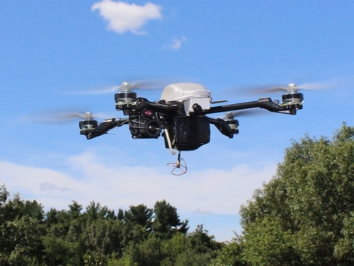 InstantEye is a family of combat-proven, high-performance, affordable, aerial robotic systems that can be hand launched and recovered by a single operator in any weather. (InstantEye)